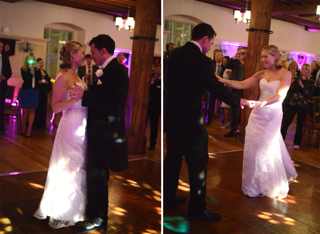 A couple of newly-wed first dance wedding pictures taken in the New Armouries Banqueting Suite at The Tower of London a wonderful and unique London wedding venue