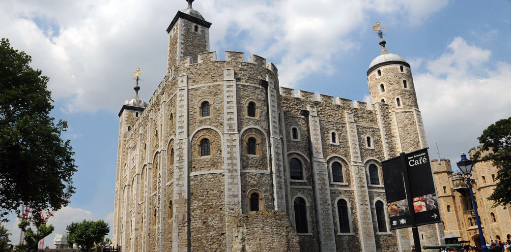 The historic and world famous White Tower of the Tower of London a world heritage site, ever popular visitor attraction and exclusive London wedding venue